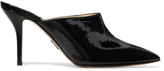 Paul Andrew Certosa Patent-leather Mules - Black