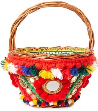 DOLCE & GABBANA Agnese pompom-embellished basket bag $4,882 thestylecure.com