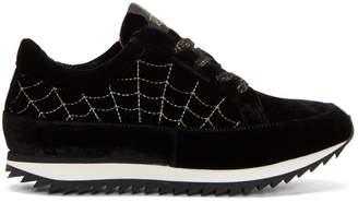 Charlotte Olympia Black Velvet Work It Sneakers