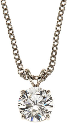 FANTASIA 14K White Gold-Plated Necklace & Cubic Zirconia Pendant