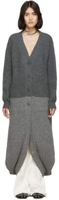Maison Margiela Grey Convertible Double Layer Cardigan Dress