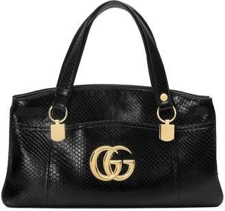 Gucci Arli large python top handle bag