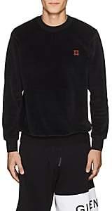 Givenchy Men's Embroidered Cotton-Blend Velour Sweatshirt-Black