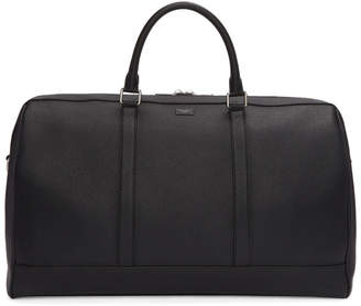 Dolce & Gabbana Black Leather Duffle Bag