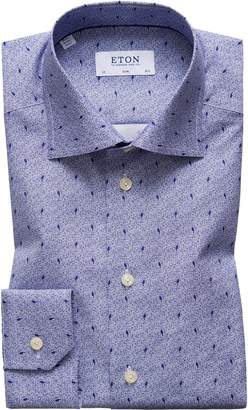 Eton Slim Fit Print Dress Shirt