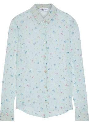 RED Valentino Printed Silk-Chiffon Shirt