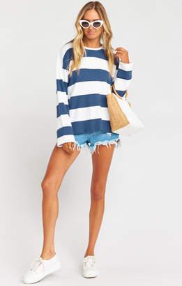 Show Me Your Mumu Prep Sweater ~ Navy Stripe Knit