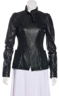 Balenciaga Structured Leather Jacket