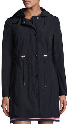 Moncler Anthemis Lightweight Raincoat $905 thestylecure.com