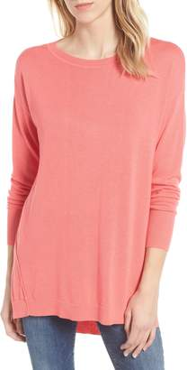 Caslon Zip Back High/Low Tunic Sweater