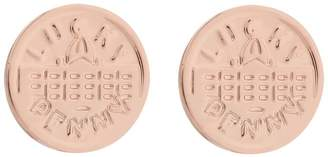 Harrods Rose Gold-Plated Lucky Penny Earrings
