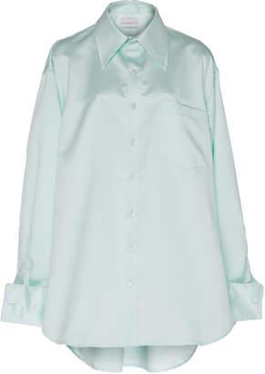 Matthew Adams Dolan Oversized Silk-Satin Shirt