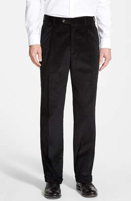 Berle Pleated Corduroy Trousers
