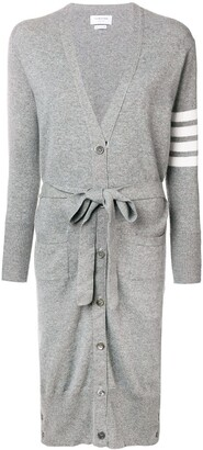 Thom Browne Long Boxy Cashmere Cardigan