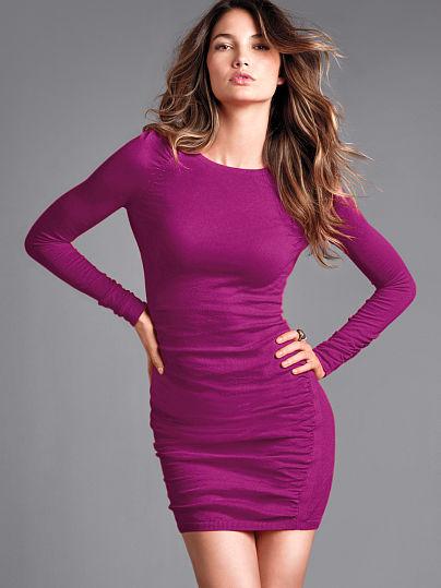 Victoria's Secret Ruched Knit Dress