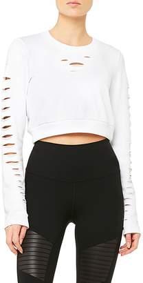 Alo Yoga Ripped Warrior Crop Sweatshirt