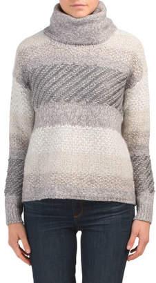 Tonal Striped Turtleneck Sweater