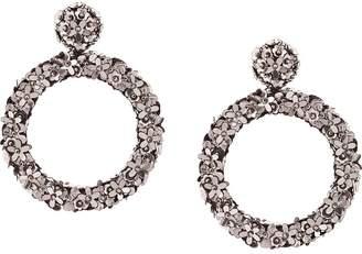Sachin + Babi sequinned floral hoop earrings