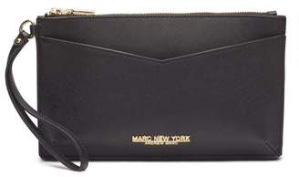 Andrew Marc Greenwich Saffiano Large Leather Wristlet