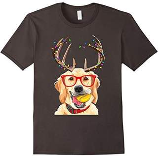 Golden Retriever Shirt With Anthlers Funny Gift Tees