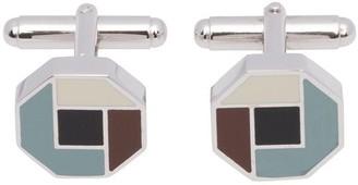Prada Silver And Enamel Cufflinks