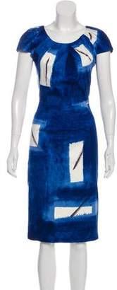 Samantha Sung Bateau Neck Midi Dress