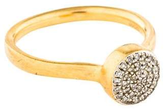 Monica Vinader Diamond Fiji Button Ring