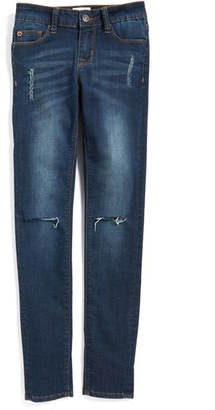 Girl's Hudson Kids 'Dolly' Destroyed Skinny Jeans $49 thestylecure.com
