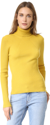 3.1 Phillip Lim Long Sleeve Ribbed Turtleneck $325 thestylecure.com