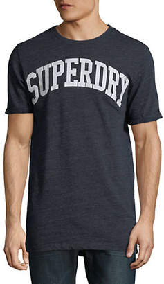 Superdry Varsity Long Line Logo T-Shirt
