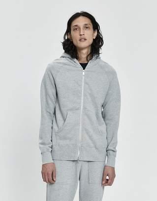 Velva Sheen 8 oz. Hooded Zip-Up in Heather Grey