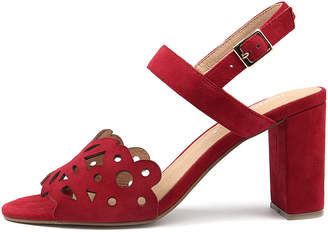 Django & Juliette Thistle Red Sandals Womens Shoes Casual Heeled Sandals