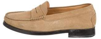 Tod's Round-Toe Suede Loafers