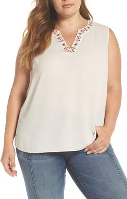 Vince Camuto Embroidered Tank