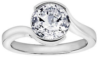 Diamonique 2.40 cttw Ring, Platinum Clad