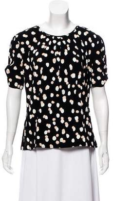 Altuzarra Printed Short Sleeve Top