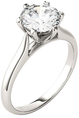 Charles & Colvard Moissanite Solitaire Engagement Ring 1-1/2 ct. t.w. Diamond Equivalent in 14k White Gold