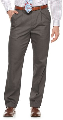 Croft & Barrow Men's Classic-Fit Pleated No-Iron Stretch Khaki Pants