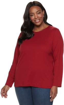 Croft & Barrow Plus Size Classic Crewneck Tee