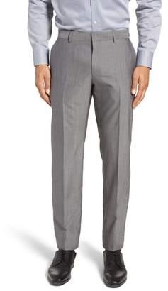 BOSS Genesis Flat Front Solid Wool Trousers