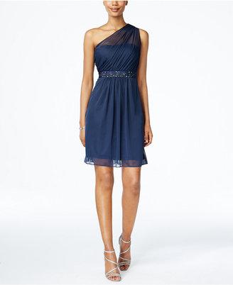 Adrianna Papell One-Shoulder Embellished Dress - ShopStyle ...