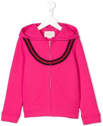 Gucci Kids Web trim sweatshirt