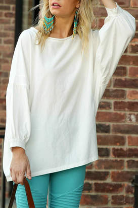 Umgee USA Bubble Sleeve Top
