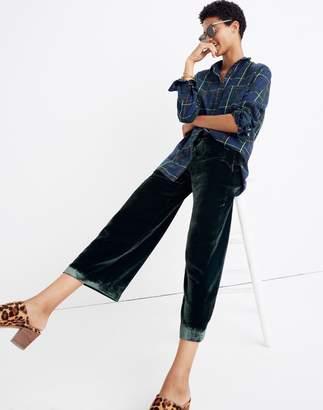 Madewell Velvet Huston Pull-On Crop Pants