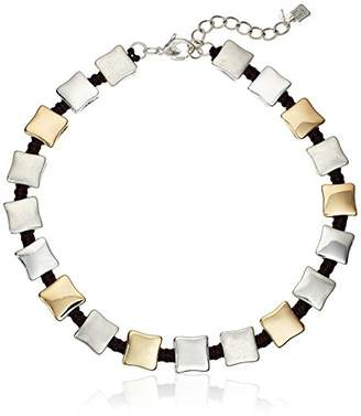 Robert Lee Morris Square Woven Collar Necklace