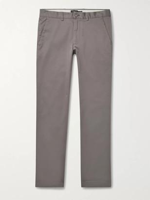Club Monaco Connor Slim-Fit Cotton-Twill Chinos - Men - Gray