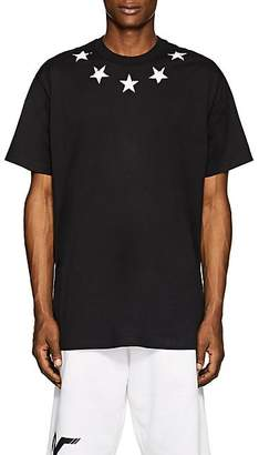 Givenchy Men's Star-Print Cotton T-Shirt - Black