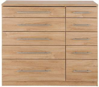 Very Prague 5 + 5 Graduated Chest of Drawers