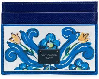 Dolce & Gabbana Majolica print cardholder