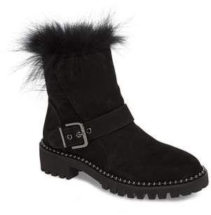Theresa CECELIA NEW YORK Boot with Genuine Fox Fur Trim